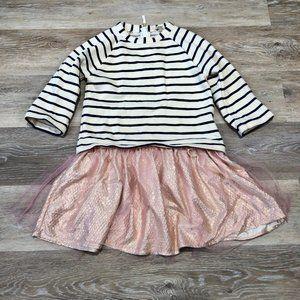 J. Crew Crewcuts Sweatshirt Ruffle Skirt Dress